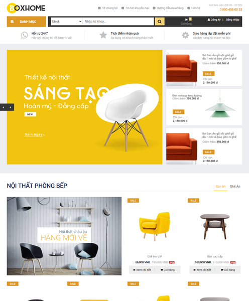 Website Nội Thất BOXHOME